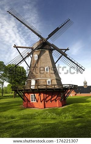 Windmill In Old Military Fortress. Copenhagen   Denmark