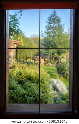 Window and garden view