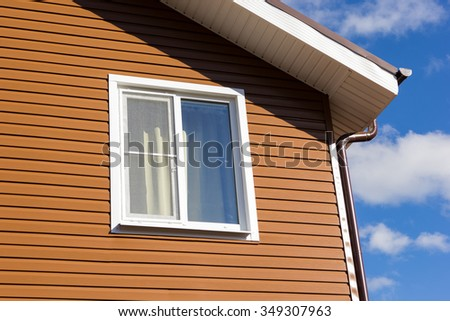Two Small Windows Attic Under Roof Stock Photo 173707049