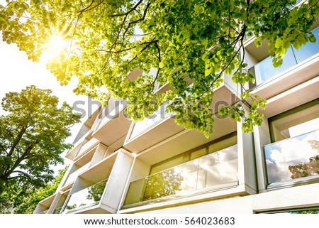 Modern Cubic Residential Architecture Berlin Stock Photo