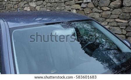 windshield rain light sensors position luxury stock photo. Black Bedroom Furniture Sets. Home Design Ideas
