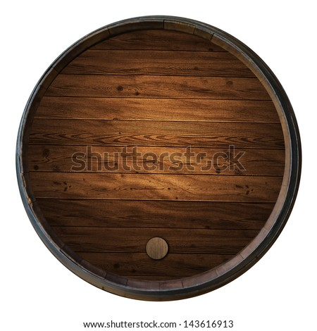 Wine barrels isolated white background