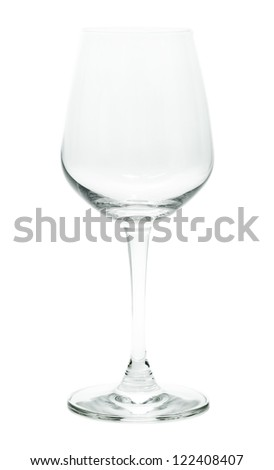 Wine glass. Isolated on white.