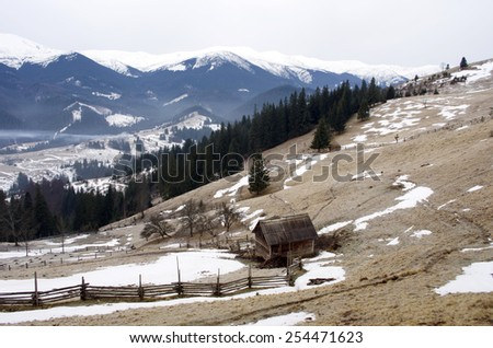 winter calm mountain landscape