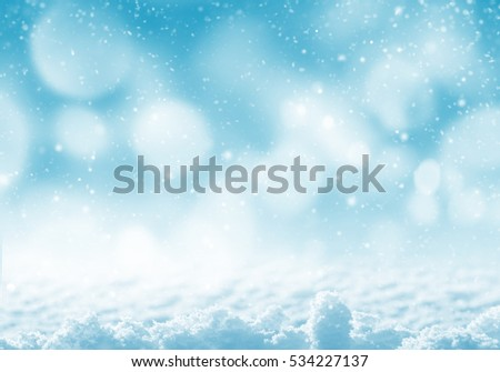 Winter festive background. Winter landscape with brilliant snow in the sunlight.