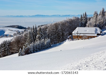 Winter, home, hotel, vacation, slope, snow, Black Forest,