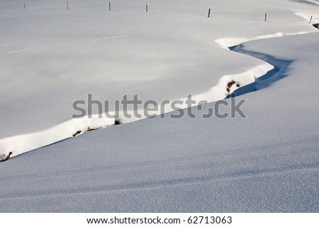 Winter in the swiss alps (Amden, St.Gallen, Switzerland)