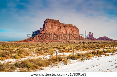 winter morning in the monument valley