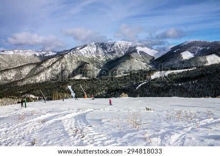 winter mountain forest snow landscape, Jasna, Slovakia
