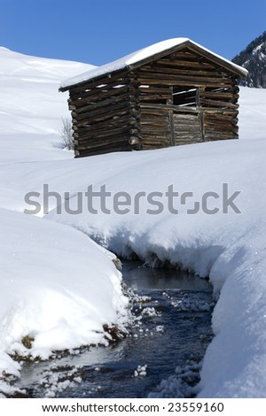 Winter scenery in the alps