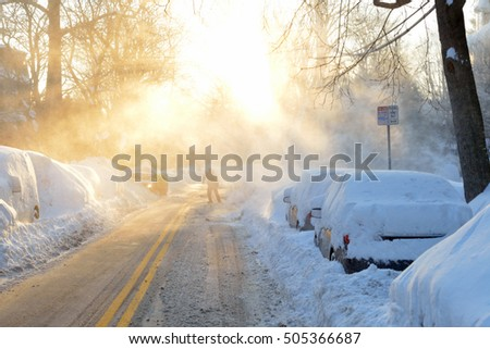 Winter streetscape