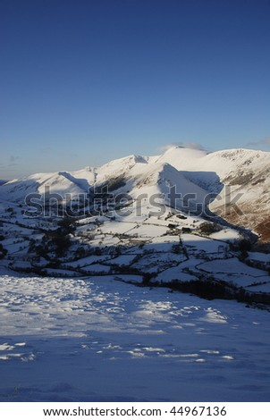 Winter view of the Newlands Valley in the English Lake District
