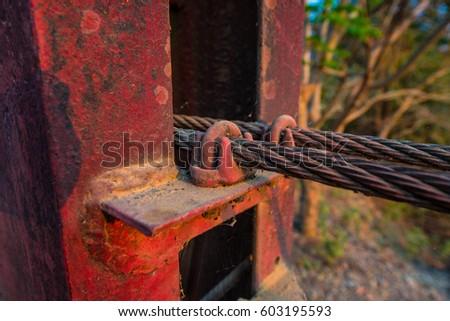 Wire Rope Make Strong Bridge Stock Photo 603195575 - Shutterstock