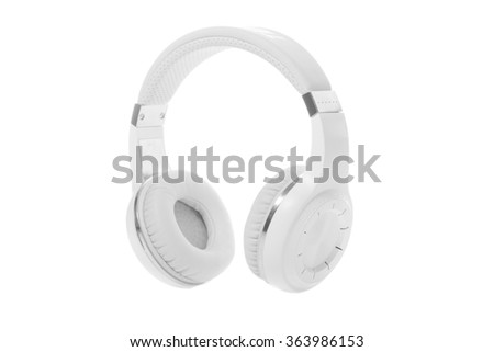Wireless headphones isolated on a white background. bluetooth