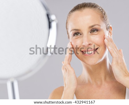 Woman and mirror