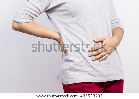 Woman has stomachache