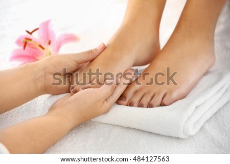 Woman having spa massage at salon