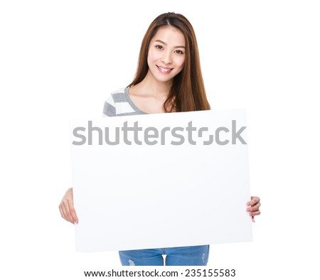 Woman hold with placard