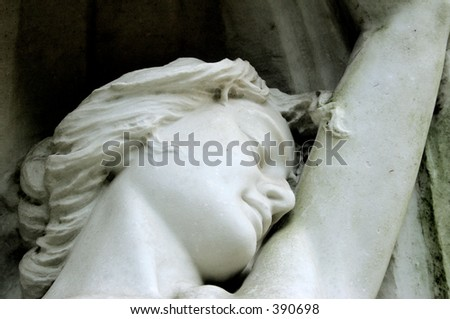 woman in marble