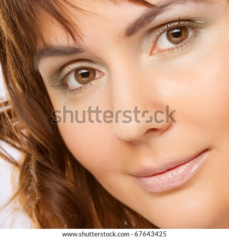 Woman portrait middle age smile peace relax