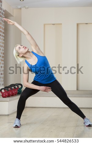 Woman practicing in gym
