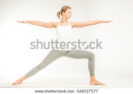 Young Couple Practicing Yoga Sitting Lotus Stock Photo ...