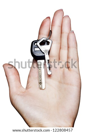 Woman�s hand holding the keys
