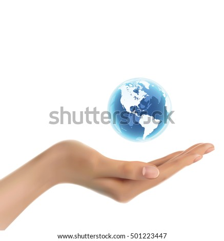 Woman's Hand Holding World