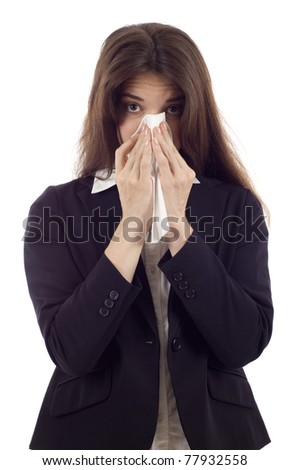 Blow Nose Ones Woman Young Stock Photos, Illustrations, and Vector Art