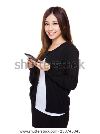 Woman use of cellphone