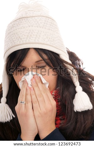 Woman with a cold / Cold