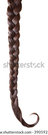 Women braid on a white background.