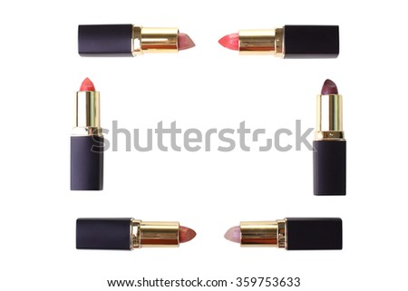 women's open  lipstick isolated on white background
