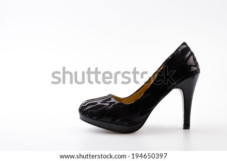Women shoes isolated white background