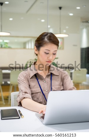 Women who enter documents (work · desk work · accounting)