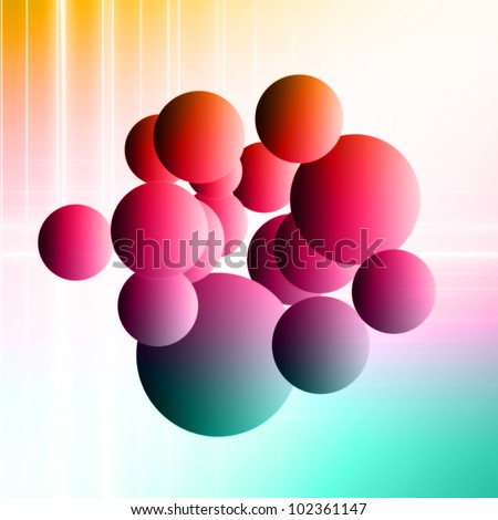 wonderful bubble background design