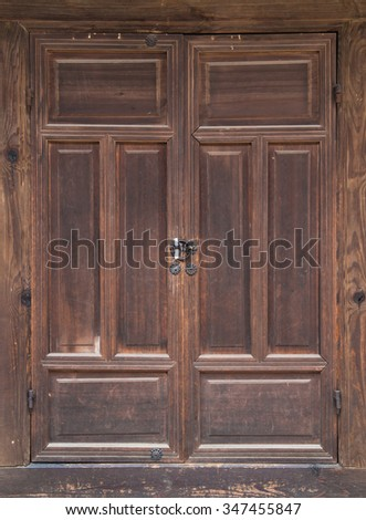 Wood antique door, background
