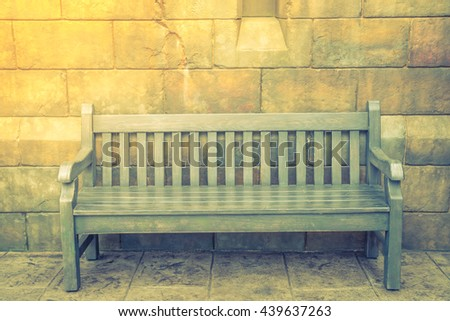 Innovative Old Bench Against Shingle Wall Stock Photos  FreeImagescom