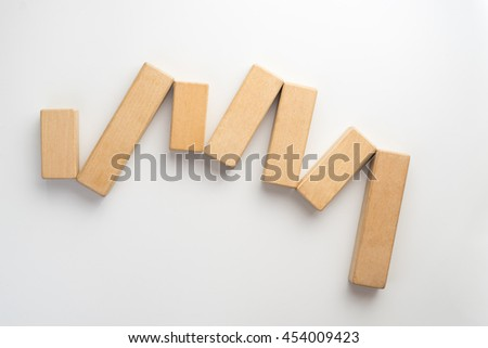 Wood block arranging as stack step can use for business template or bullet.
