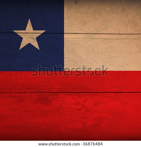 wood flag of chile