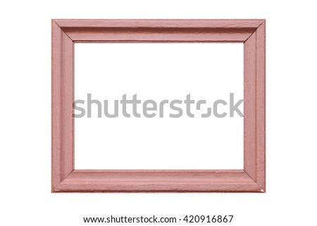 Wood photo frame isolated on white background