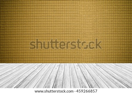 Wood terrace and Wallpaper interior texture background surface natural color , process in vintage style