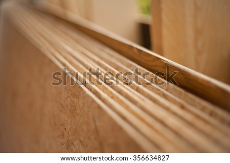 wooden construction -  plywood