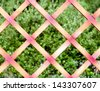 wooden fence. fragment - stock photo