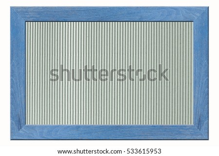 wooden frame isolated on white background and cardboard background.