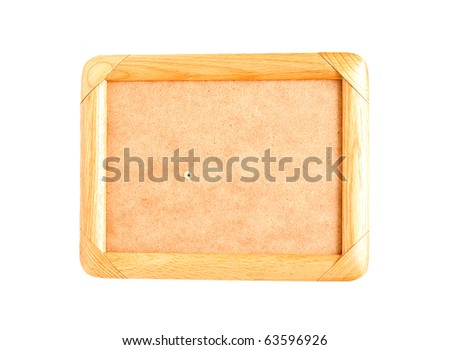 wooden frames isolated on white
