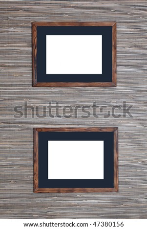 Wooden framework for a photo