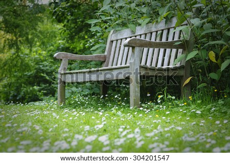 Secret Garden English Garden Bench Stock Photo 58817899 Shutterstock