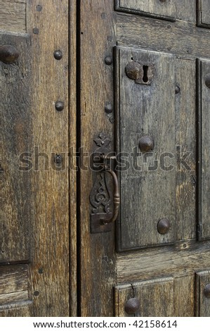 wooden old door