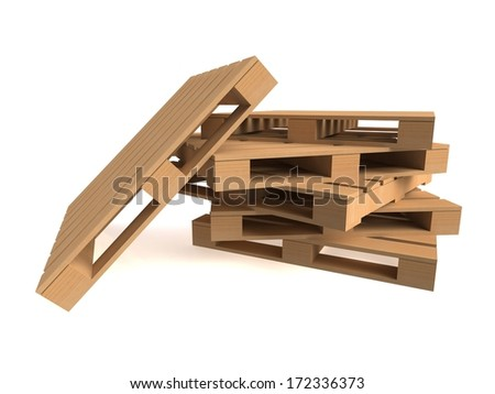 Wooden Shipping Pallet on white background